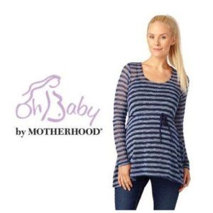 Oh Baby by Motherhood Maternity Blue Top Sz M NWT